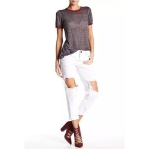 One Teaspoon 28 White Beauty Skinny Leg Jeans